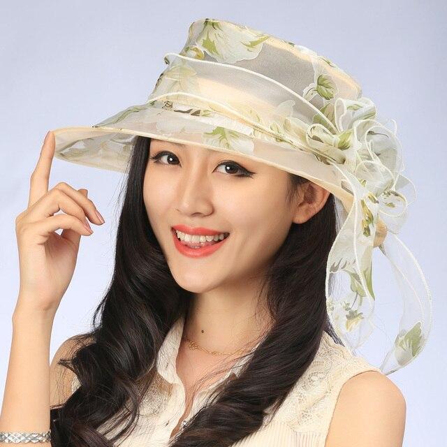 2016 новая Мода Лето Женские женские Складная Широкий Большой Брим флоппи Пляж Hat Вс шелковый цветок Флоппи Cloche котелок Cap