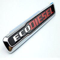 ABS Trunk Badge Sticker Chrome Auto Emblem Car Sticker Nameplate Badge For Jeep Grand Cherokee ECO