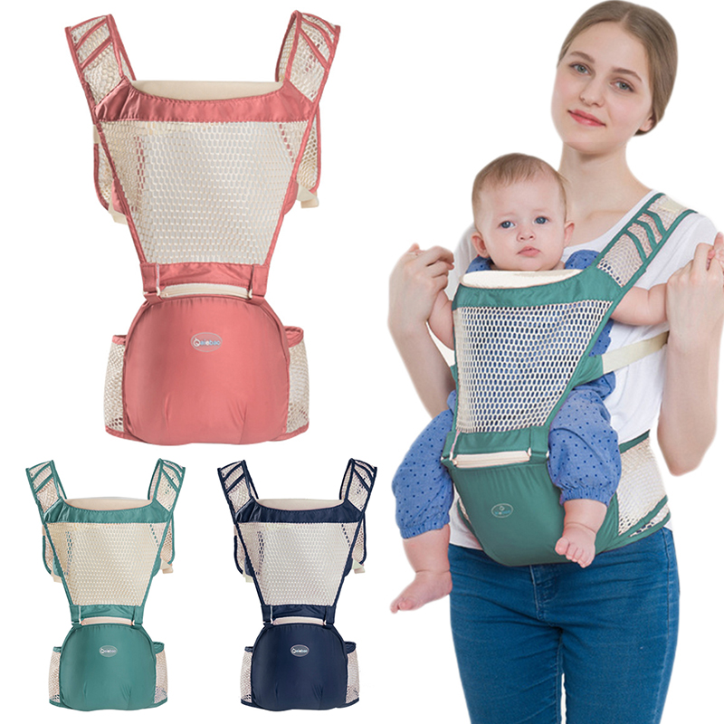 New 1 Pcs Ergonomic Baby Carrier Breathable Backpack Hip Seat Baby Infant Backpack Baby Sling Stool Waist Baby 3 Color 2018 new baby carrier 0 30 months breathable comfortable babies kids carrier infant backpack baby hip seat waist stool