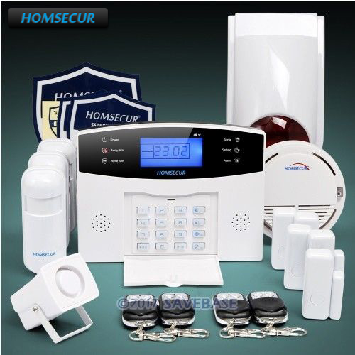 HOMSECUR Wireless LCD GSM SMS Autodial Home House Alarm System+PIR+5*Door Sensor(Available shipment from Germany) стоимость