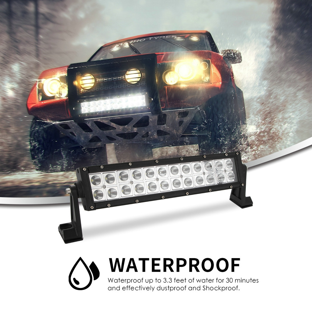 Image 3 - 13inch 120W 2525 Dual Row Straight LED Work Light Bar Off Road Driving Truck SUV LED Lamps For Cars Luces Led Para Auto-in Light Bar/Work Light from Automobiles & Motorcycles