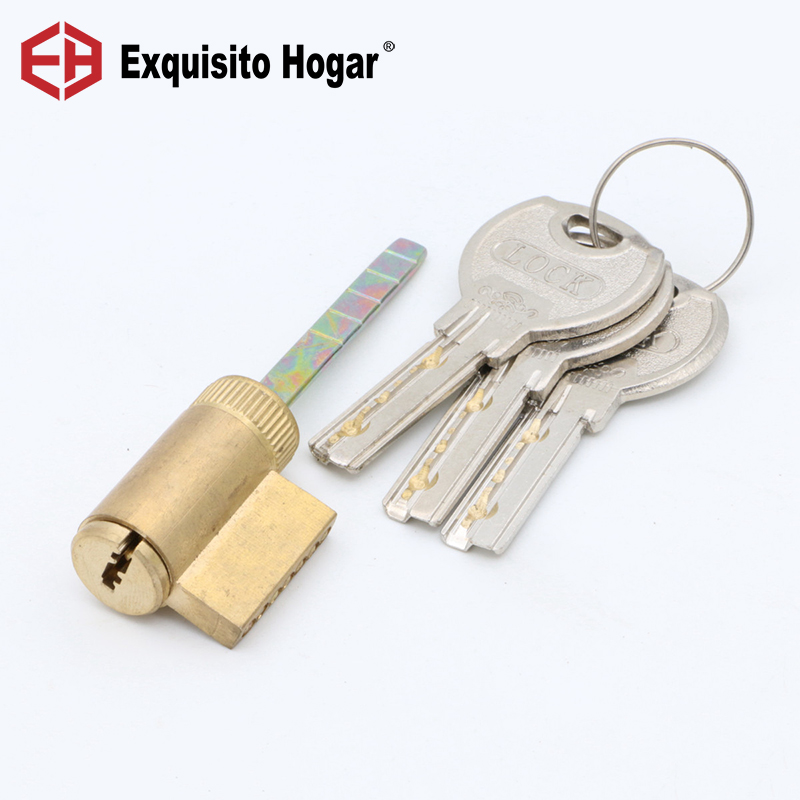 Locking Lock Door Cylinder Handle Pressure Lock Key Brass Interior Door 9# Single Hardware Core Rod 35 55mm door thickness door handle brass lock with 70mm key lock page 10