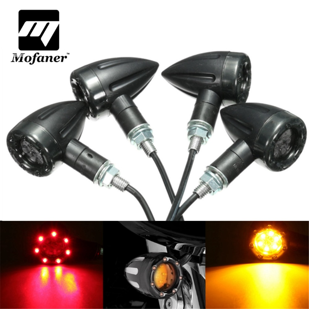4pcs Universal Motorcycle Flasher Turn Signal Light LED Indicators Light Brake Rear Running Lamp