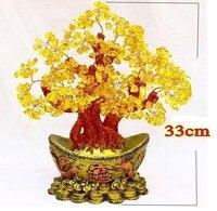 Lucky tree hand woven bonsai NATURAL. citrine quartz crystal A2