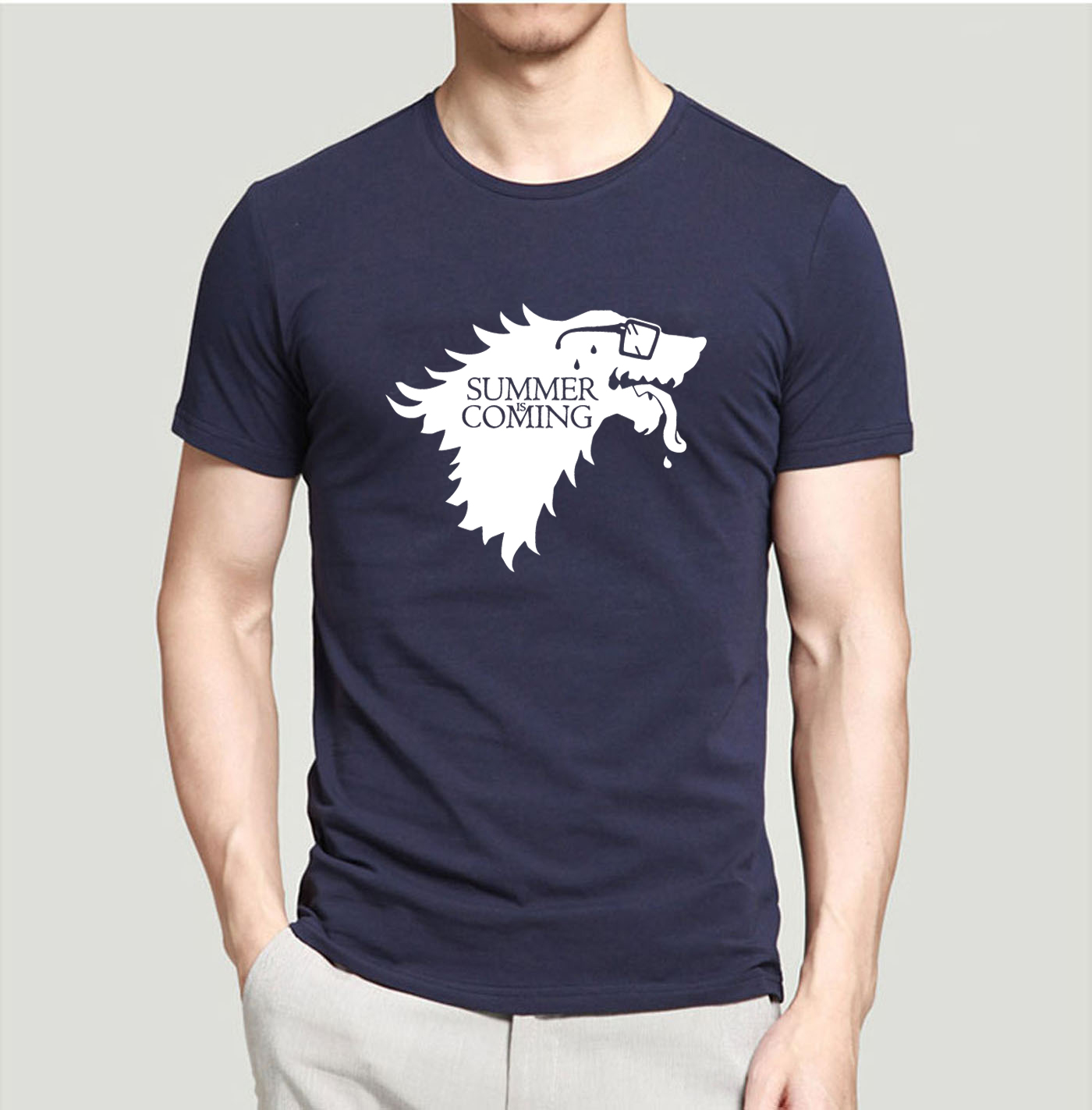 Creative   T     Shirts   Game Of Thrones Summer Is Coming Printed Funny   T  -  Shirts   2019 New Summer 100% Cotton Men Tops Tees For Fans