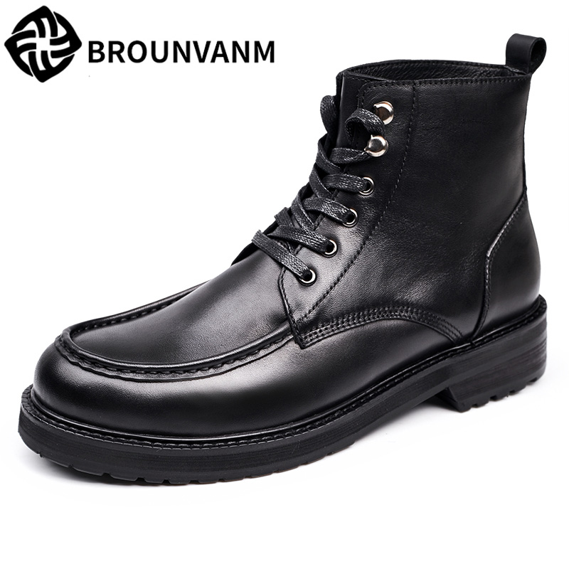 цены  Martin Boots Men with male helpers Korean winter snow boots high boots for men's fashion men's shoes in England