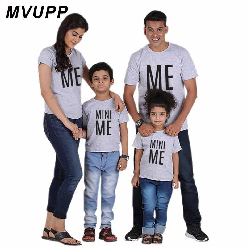 משפחת התאמת תלבושת מכתב לי מיני לי אב ובן T חולצה משפחה מראה חולצה כל משפחה Dady אמא ילד כותנה בגדים