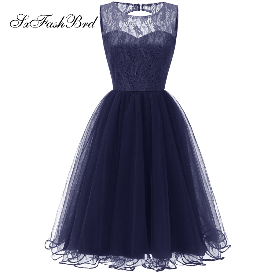 Vestido De Noche Festa Longo O Neck A Line Tulle Formal Elegant   Dresses   Mini Short Women Evening   Dresses   Party   Prom     Dress