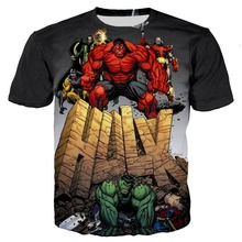 Avengers 4 Infinity War Superhero Thanos Hawkeye Hulk Tees 3D Print Kids T Shirt child Captain America Tops Summer teen T-Shirt