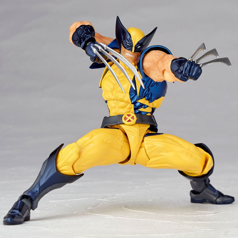 Wolverine X-men Figure SCI-FI REVOLTECH Wolverine Logan Howlett 16CM PVC Action Figures Doll Toys high quality 16cm pvc model x men wolverine james howlett logan howlett action figure doll model toy children gift