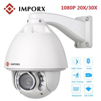 IMPORX 1080P 20X ZOOM Auto Tracking PTZ IP Camera HD 2MP 30X ZOOM POE IR CUT High Speed Dome Network Camera Not Audio With Wiper