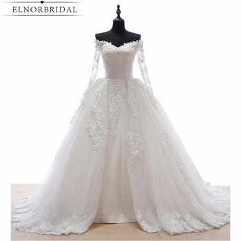Real Image Detachable Skirt Wedding Dress 2019 Vintage Vestido De Noiva Long Sleeves Handmade Bridal Gowns Free Shipping - DISCOUNT ITEM  18% OFF All Category