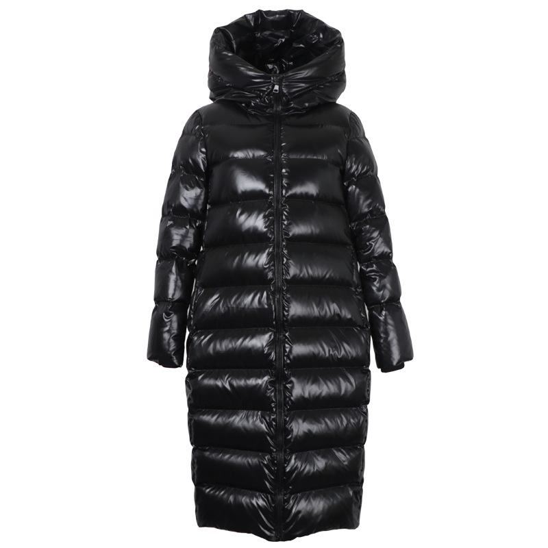 WSYORE Women Black   Down   Jacket Female Shine Long Parkas 2018 New Winter Loose Hooded Warm Bread Jackets Long   Down     Coat   NS857