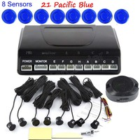 Car Parking Sensor Reverse Backup Radar Kit System Accessories Without Display Monitor 44 colors 8 Front Rear sensors