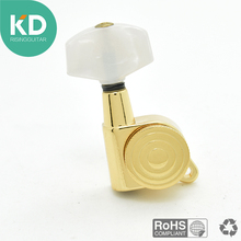 1 pcs right locking Electric Guitar tuning peg Acoustic Guitar machine head tuning key ratio 1:18 gold plated