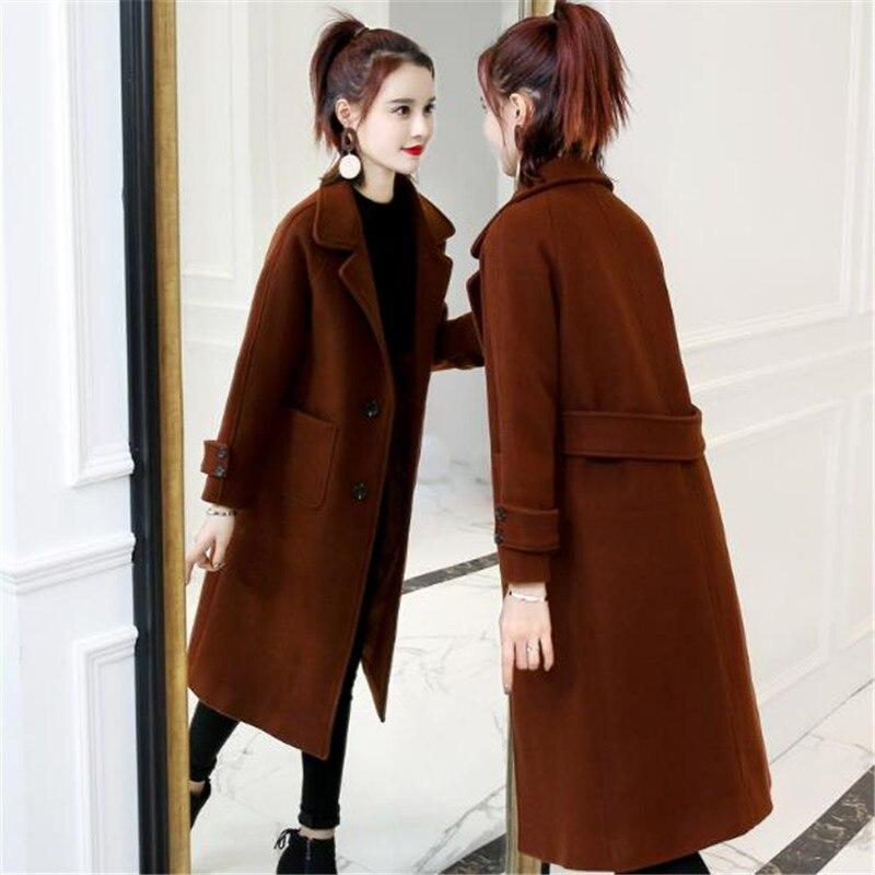 Automne Longue Veste 1 Femelle Nouvelle Lâche Mode D'hiver Hiver 5 4 Parka Chaud Laine 6 De 2 2018 7 Vêtements Gamme Femmes Survêtement 3 Manteau Haut qqZaw4I6