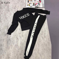 New Autumn Winter 2017 Women 2 Piece Clothing Set Casual Fashion Vogue Sweatshirt Long Pants Tracksuit