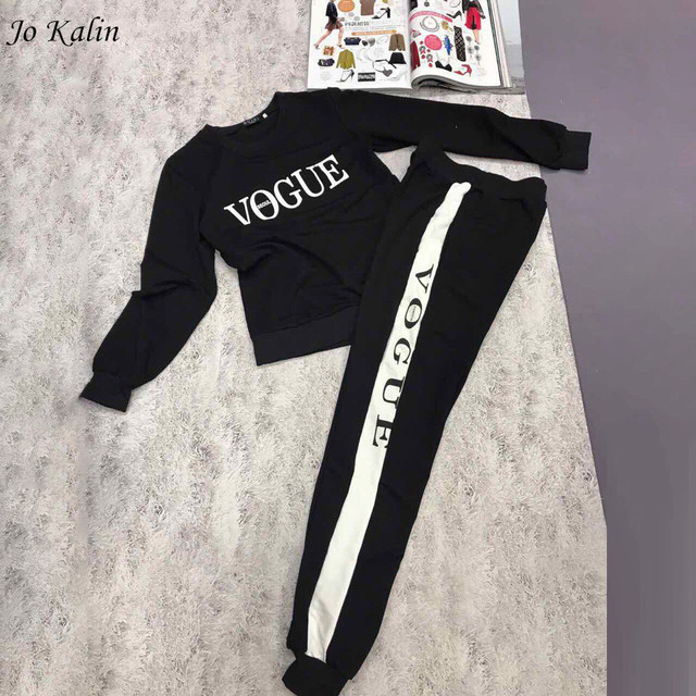 New Autumn Winter 2018 Women 2 piece clothing set casual fashion Vogue sweatshirt+ long pants tracksuit for women hoodie suit
