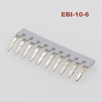 5pcs EBI10-6 Side Plug-in Connector Din Rail Terminal block UK2.5B UK5N UDK4 UKK5 UK5-TWIN Center short circuit connection strip image