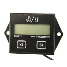 2019 New LCD Digital Engine Tach Hour Meter Tachometer Gauge Inductive Display For Motorcycle Motor Marine Chainsaw Boat ATV Etc
