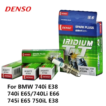 4pieces/set DENSO Car Spark Plug For BMW 740i E38 740i E65/740Li E66 745i E65 750iL E38 Iridium Platinum IK20TT