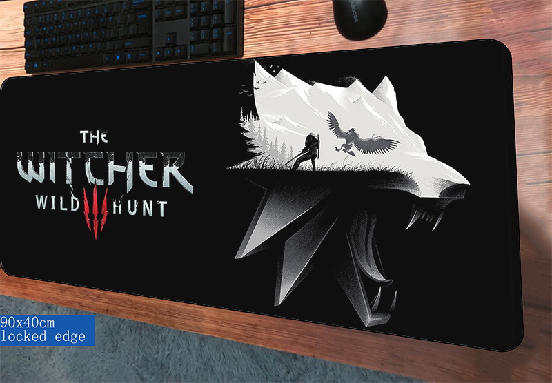 witcher padmouse 900x400x3mm gaming mousepad game cheapest mouse pad gamer computer desk High quality mat notbook mousemat pcwitcher padmouse 900x400x3mm gaming mousepad game cheapest mouse pad gamer computer desk High quality mat notbook mousemat pc