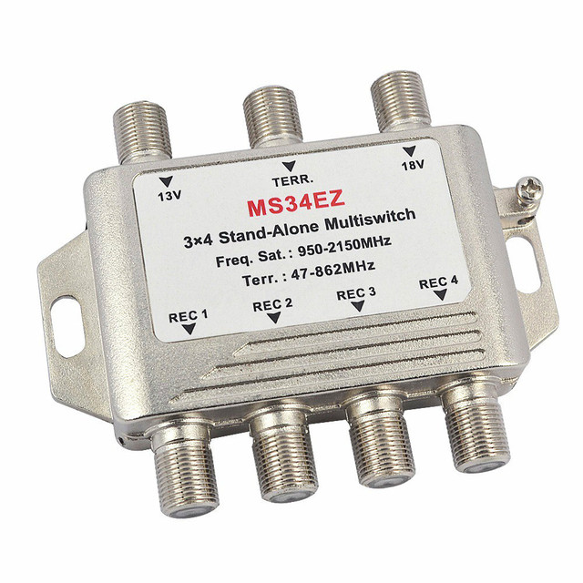 3 In 4 Out Satellite Diseqc Stand Alone Multiswitch