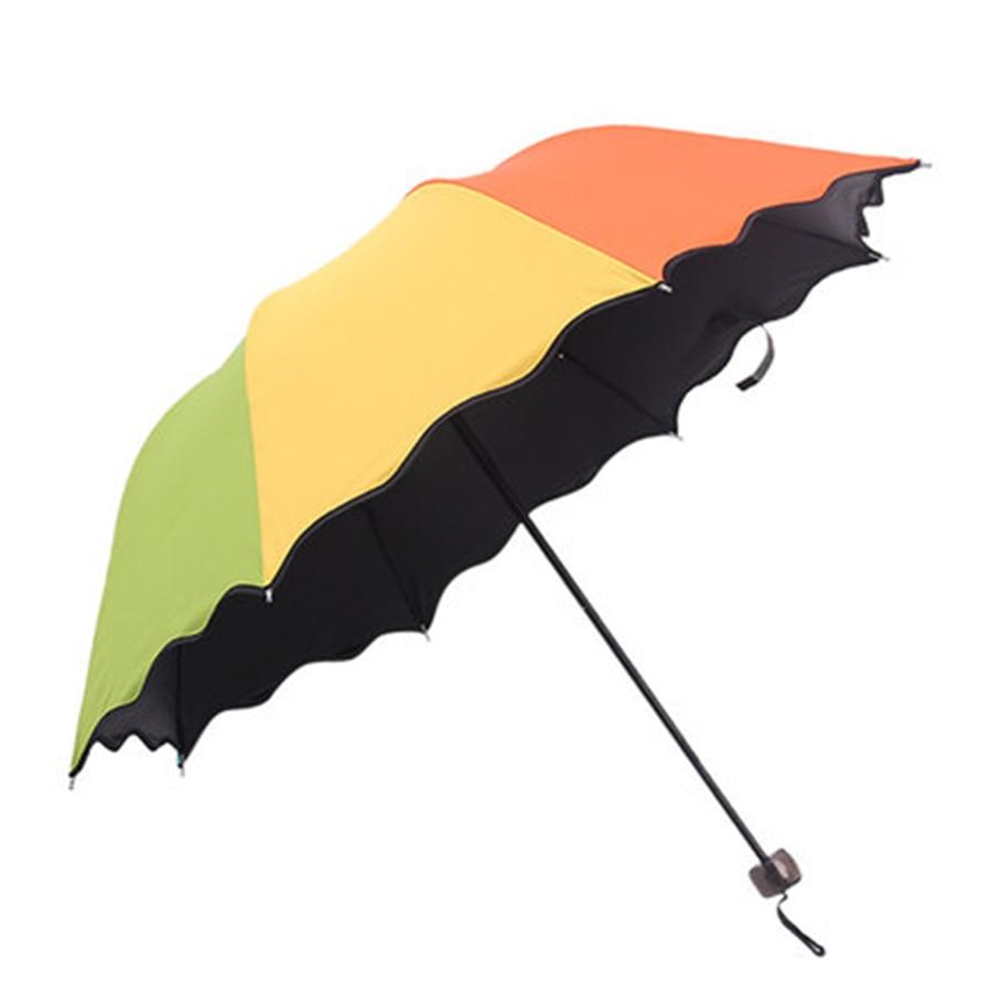 Soleil extérieur adulte couleur ensoleillé parapluie pluie femmes haute qualité pliant Parasol adultes clair De Jardin mâle parapluie outils 5U12