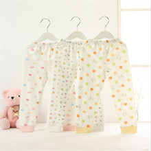 5pcs Pack Embroidered Animals Printed Pants 100% Cotton