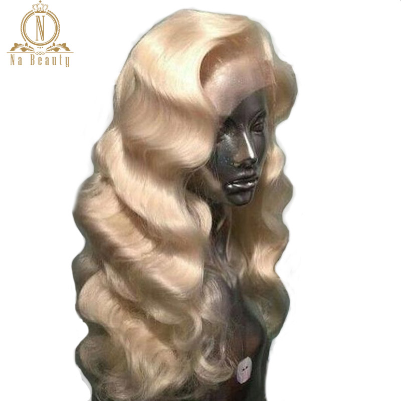 613 Blonde Full Lace Frontal Wig Pre Plucked With Baby Hair Body Wave Full 150% Density Lace Front Human Hair Wigs NaBeauty(China)