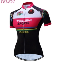 TELEYI 2017 Women Cycling Jersey Bicycle Bike Running Fitness Comfortable Short Sleeve Clothes Clothing Jersey Shirt
