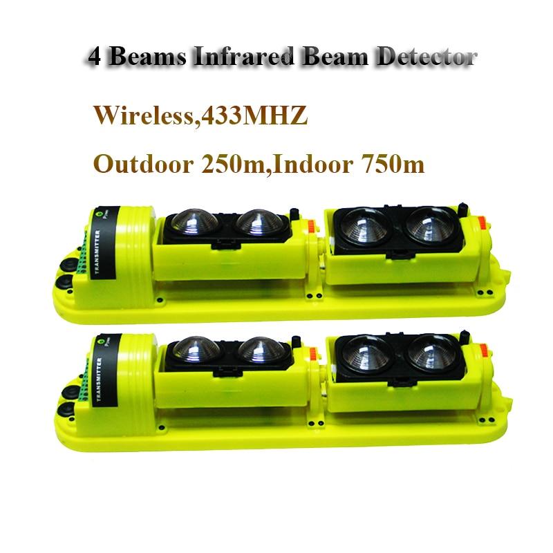 250m Outdoor Infrared Beam Detector Wireless Infrared Sensor Perimeter font b Alarm b font sensor