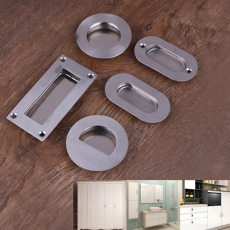 Flush Embed Knobs Kitchen Cabinet Cupboard Door Drawer