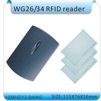 Gratis verzending 125 Khz Rfid WG26 Reader/contactloze lezer ID Kaartlezer WG26/34 EM4100 Kaartlezer + 10 stuks kaart