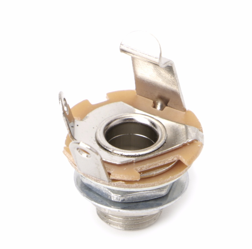 """New 1/4"""" Mono Female Input Jack Socket Plug For Electric Guitar Bass-in  Guitar Parts & Accessories from Sports & Entertainment on Aliexpress.com 
