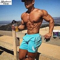 YEYINUO Brand New Fashion Brand Men Gyms Shorts Fitness Summer Bodybuilding Short Pants Kneel Length Beach