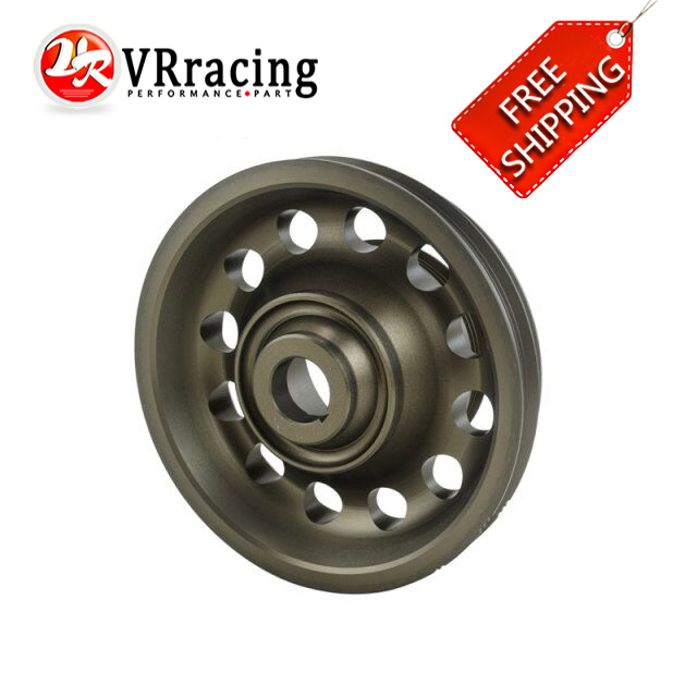 ФОТО VR RACING- FREE SHIPPING For Civic SOHC D16 Racing Light Weight Aluminum Crankshaft Pulley OEM Size 92-95 VR-CP009