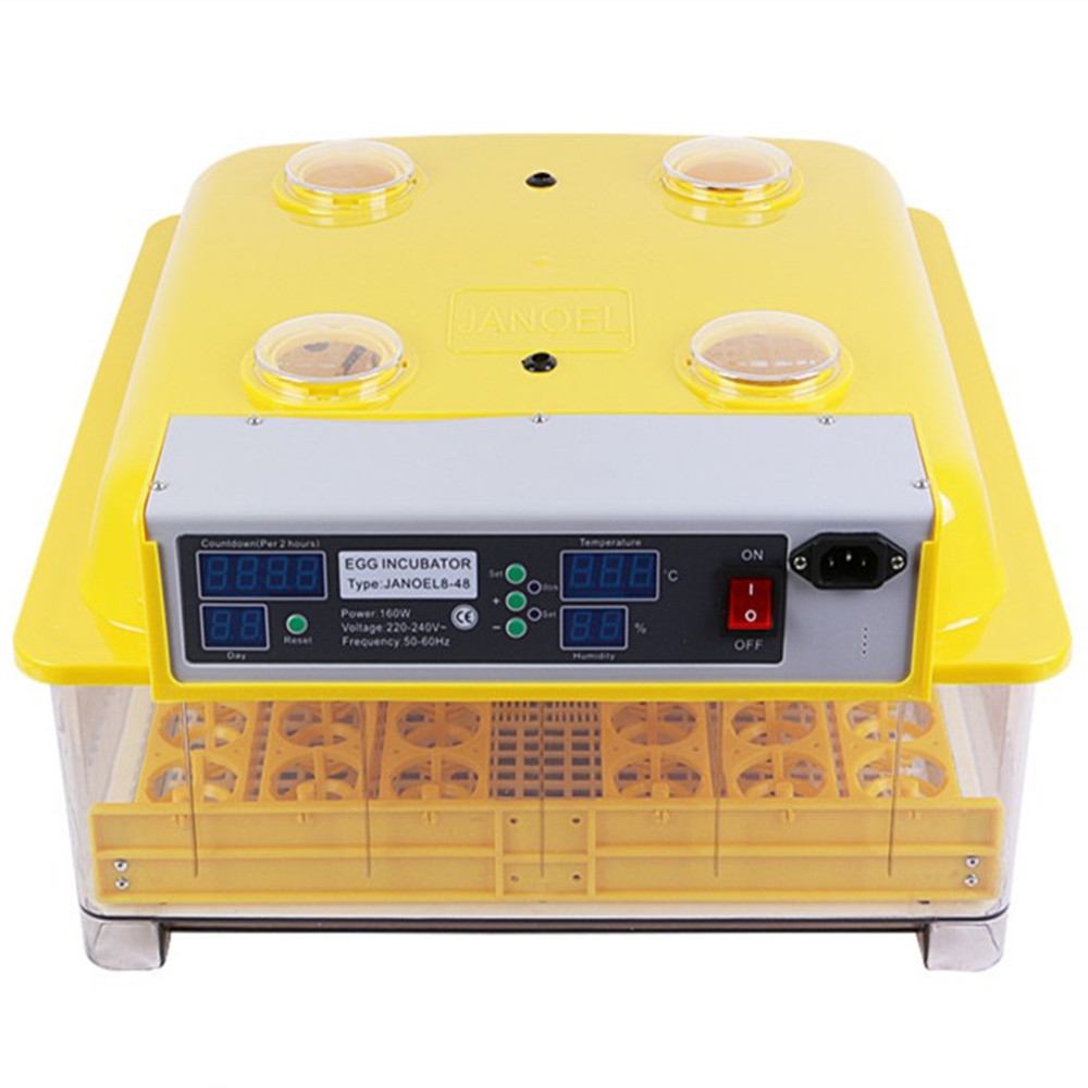 Newest Best Farm Hatchery Machine 48 Egg Hatchers Chicken Automatic Egg Incubator China for Sale Birds Quail Brooder china newest brooder automatic 48 eggs incubator hatchery auto hatchers machine indicator light