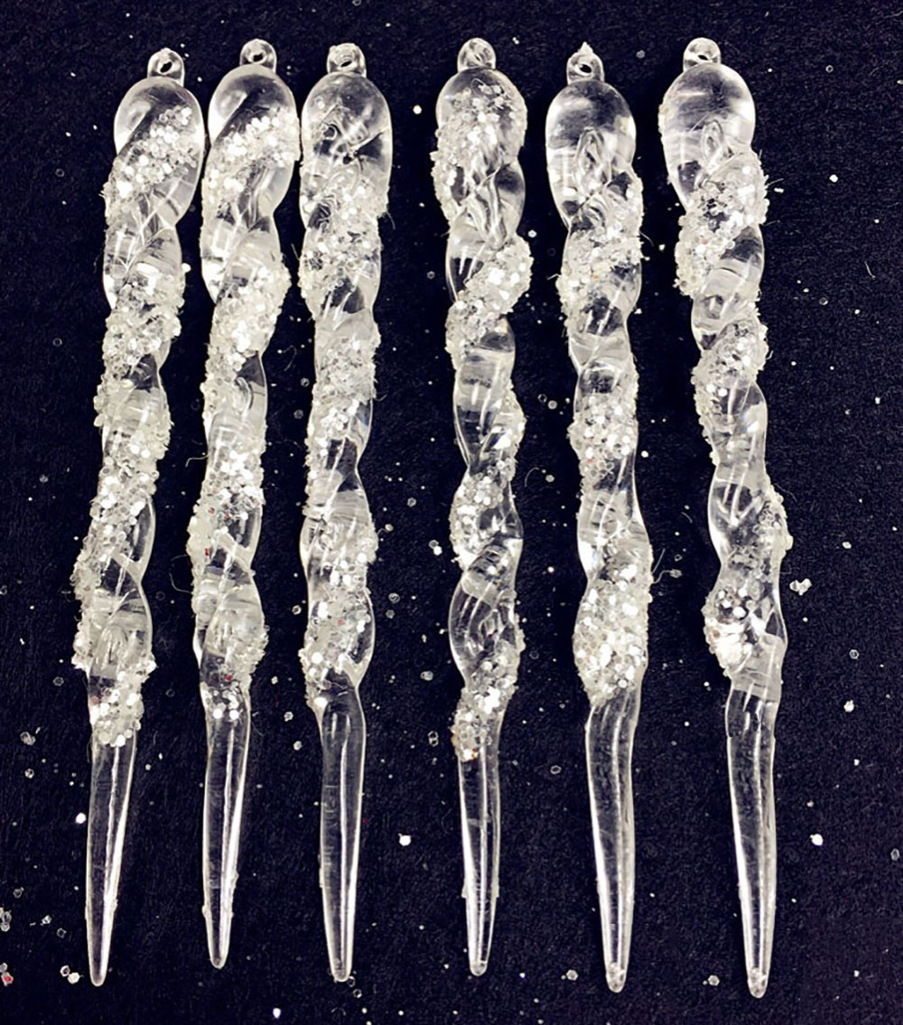 Pack Of 12 Clear Acrylic Hanging Icicle Ornaments For Christmas Tree Wedding Parties Decoration 5 Inch 9 Inch Ornaments For Christmas Ornaments For Weddingchristmas Ornaments Icicles Aliexpress