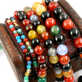Mix-Colour Agate Beads Round Selectable 4mm  8mm 10mm,Natural Stone Beads For jewelry making Diy Bracelet Necklace