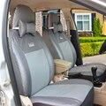 (Delantero y Trasero) logo cubierta cubierta de asiento de coche de asiento de coche Universal para jeep compass cherokee patriot wrangler asiento cubierta con cuello auto