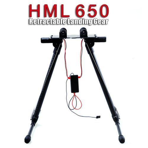 HML 650 Carbon Fiber Quick Install Retractable Folding Landing Gear Skid For S550 Tarot 650 carbon fiber landing gear skid for f450 f550 s500