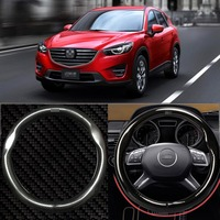 15 Black High Quality Carbon Fiber Leather Steering Wheel Cover For Mazda CX 5 CX 7