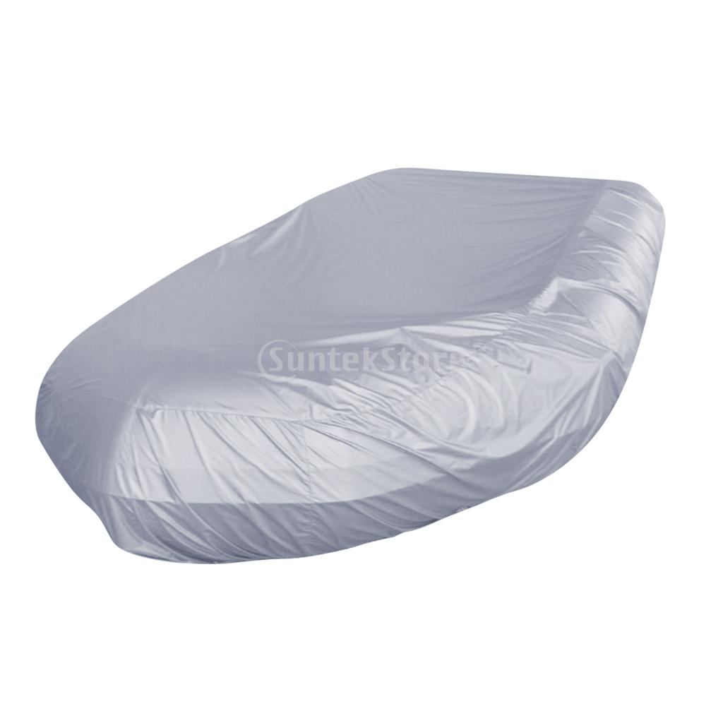 Heavy Duty Waterproof 420D Oxford Fabric UV Resistant Inflatable Boat/Dinghy/Tender Cover Storage Fits Length 7.5-17ft/2.3-5.2m dinghy helming