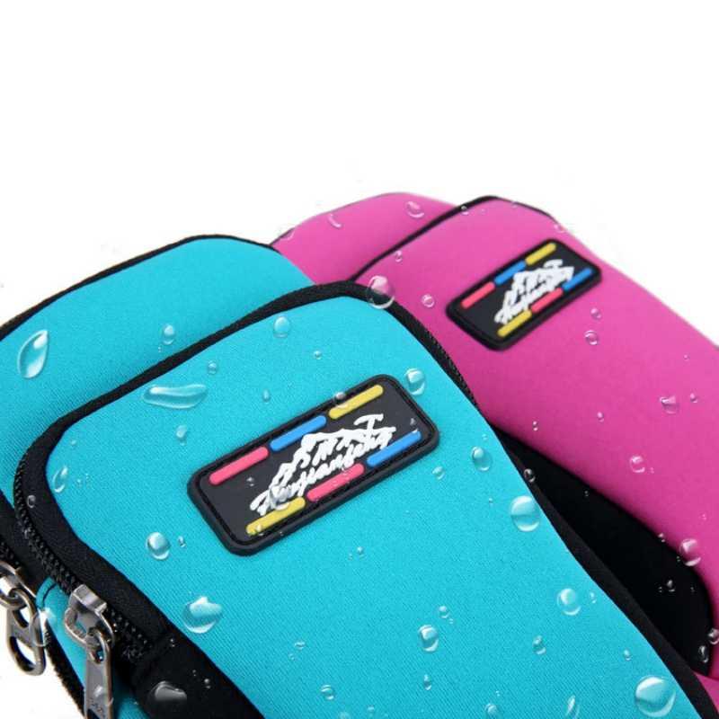 Универсальная сумка для телефона с двойными карманами спортивная сумка на руку мобильный телефон мешочек с держателем Водонепроницаемый держатель чехол сумка