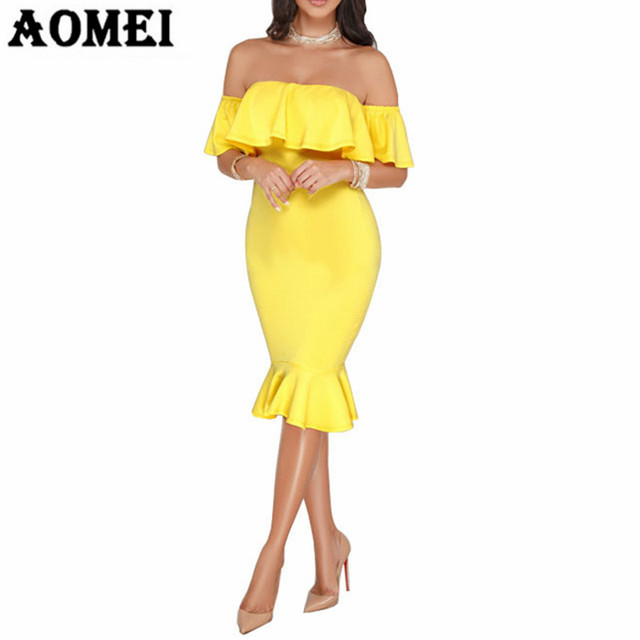 Summer Women Tube Sheath Dress Off Shoulder Backless Fishtail Sexy Hot  Package Hip Party Nightout Evening Tight Clubwear Clothes ec3b9880126f
