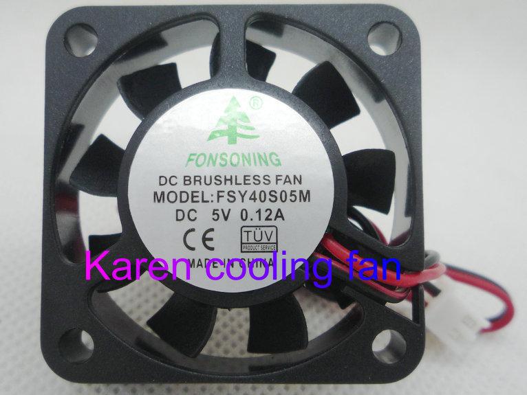 Купить с кэшбэком FONSONING 4CM 5V 0.12A FSY40S05M YM0504PFS1 F41LP-005XK-B MW-410M05C YY4010H5S RDL4010S5 FD054010HB Cooling Fan