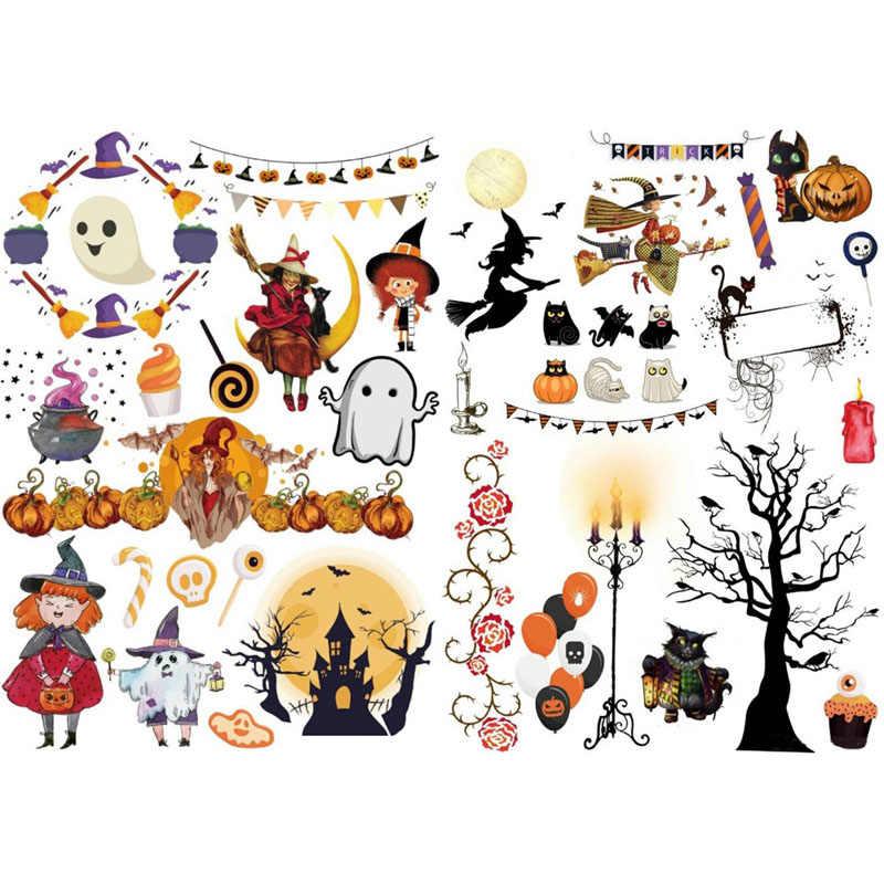 Halloween Stickers Aesthetic.2 Pcs Happy Halloween Christmas Scrapbook Bullet Journal
