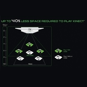 Image 3 - Zoom for XBOX 360 Kinect Sensor Wide Angle Lens Sensor Range Reduction Adapter For Microsoft XBox 360 Video Game Movement Sensor