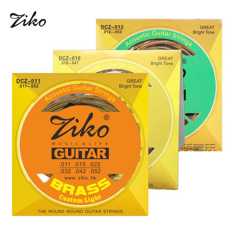 Ziko Acoustic Guitar Strings Set 010/011/012 Brass Round Wound Acoustic Guitar String DCZ 10/11/12 недорого